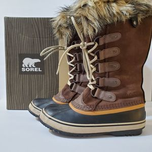 Sorel Joan of Arctic Brown Tall Winter Boots, sz 7